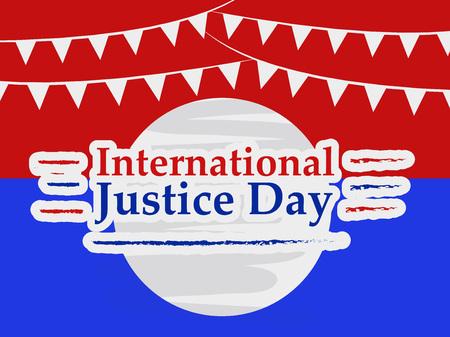 illustration of background for International Justice day Illustration