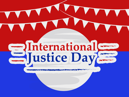 illustration of background for International Justice day Ilustração