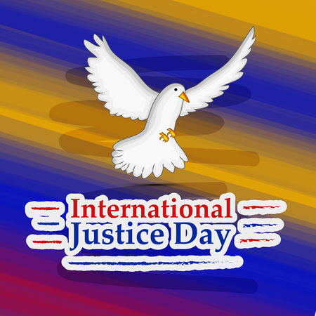 illustration of background for International Justice day 向量圖像