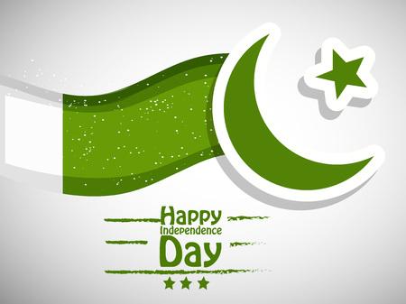 Illustration of background for Pakistan Independence Day Ilustração