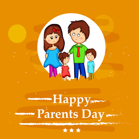 Illustration of background for Parents Day