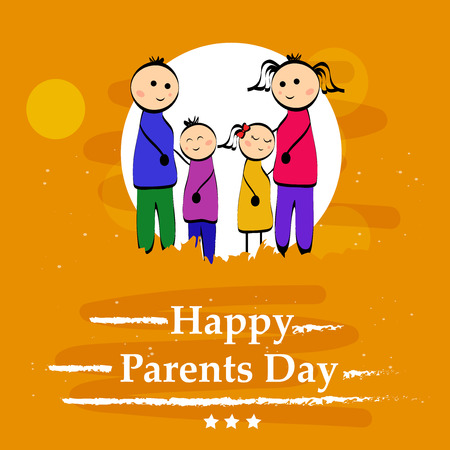 Illustration of background for Parents Day  イラスト・ベクター素材