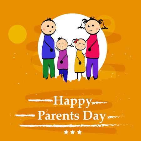 Illustration of background for Parents Day Illustration