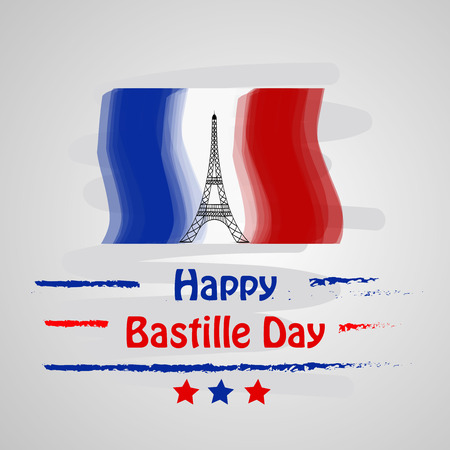 Illustration of background for France Bastille Day Vettoriali
