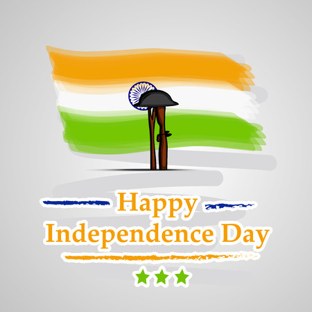 Illustration of background for Indian Independence Day Stock Illustratie