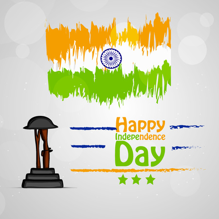 Illustration of background for Indian Independence Day Vettoriali