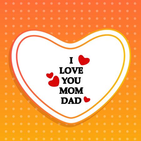 Illustration of background for Parents Day Illusztráció