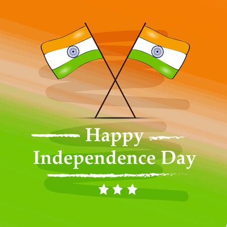 Illustration of background for Indian Independence Day Illusztráció
