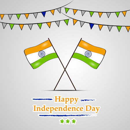 Illustration of background for Indian Independence Day 일러스트