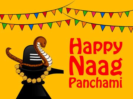 Ilustración de fondo con motivo del festival religioso hindú Naag Panchami celebrado en India