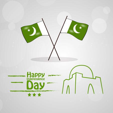 Illustration of Pakistan Independence Day background