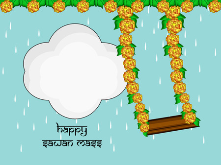 Illustration of background for Hindi Festival Sawan