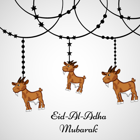 Illustration of background for the occasion of Muslim festival Eid-al-adha Vetores