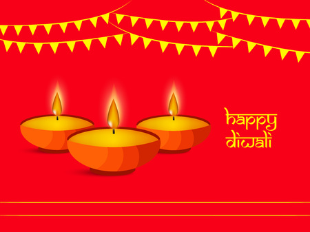 Illustration of background for the occasion of hindu festival Diwali celebrated in India
