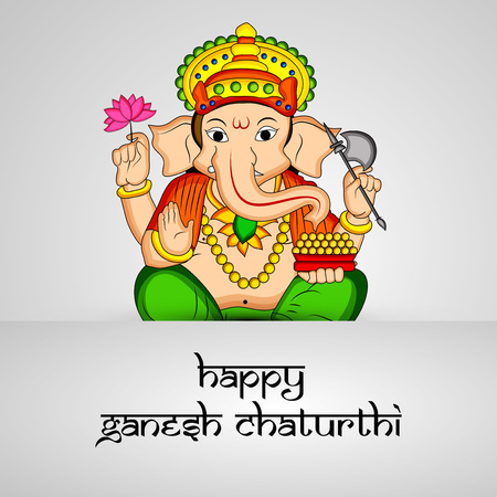 illustration of Hindu God Ganesh for the occasion of Hindu Festival Ganesh Chaturthi
