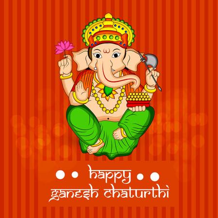 illustration of Hindu God Ganesh for the occasion of Hindu Festival Ganesh Chaturthi