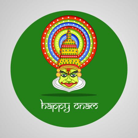 Illustration of Indian festival Onam background Illustration