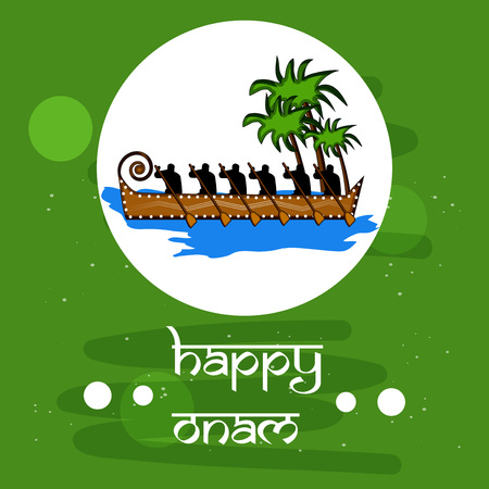 Illustration of Indian festival Onam background Illustration