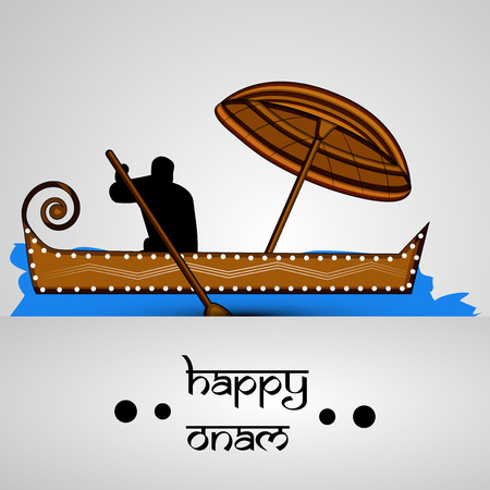 Illustration of Indian festival Onam background 向量圖像