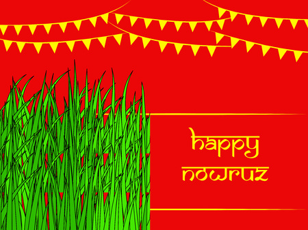 Illustration of background for Persian new Year also known as Nowruz Illustration