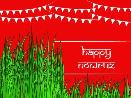 Illustration des Hintergrunds für persisches Neujahr auch bekannt als Nowruz Vektorgrafik