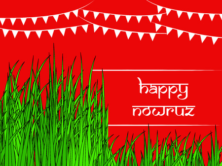 Illustration of background for Persian new Year also known as Nowruz Ilustração