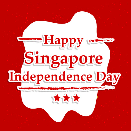 Illustration of background for Singapore Independence Day Иллюстрация