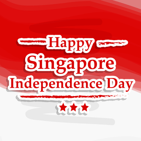 Illustration of background for Singapore Independence Day 向量圖像