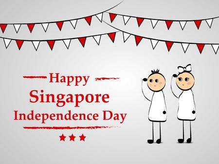 Illustration of background for Singapore Independence Day Illustration