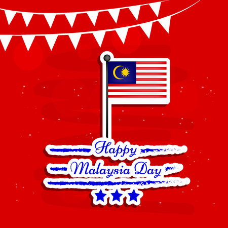 Illustration of background for Malaysia Day