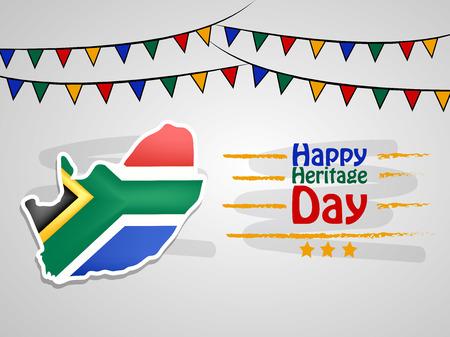 Illustration des Südafrika-Erbe-Tageshintergrunds