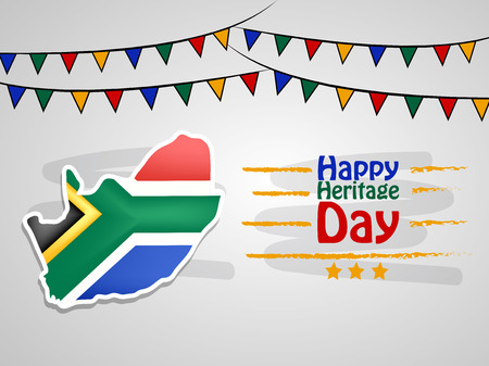 Ilustración del fondo del Día de la Herencia de Sudáfrica