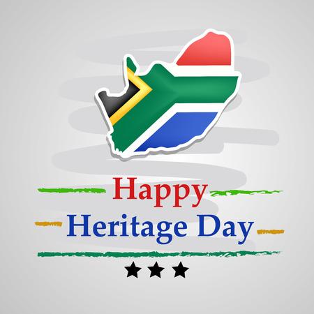 Illustration des Südafrika-Erbe-Tageshintergrunds Vektorgrafik