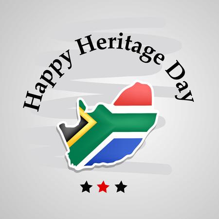 Illustrazione della priorità bassa di giorno del patrimonio del Sudafrica