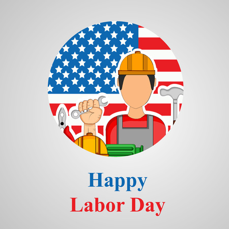 Illustration of USA Labor Day background