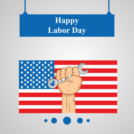 Illustration of USA Labor Day background