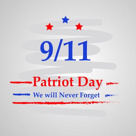 Illustration of USA Patriot Day background Stock fotó - 108715560