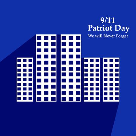 Illustration of USA Patriot Day background Stock fotó - 108715580