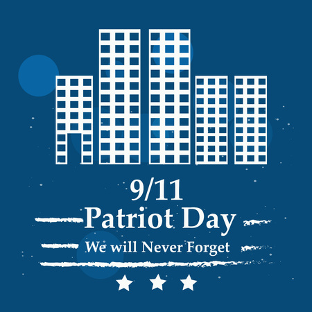 Illustration of USA Patriot Day background Stock fotó - 108715582