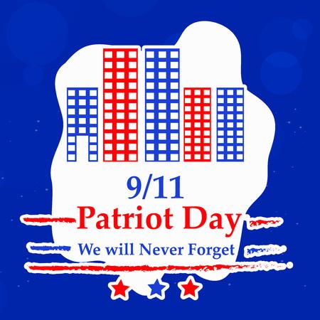 Illustration of USA Patriot Day background