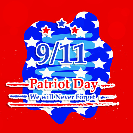 Illustration of USA Patriot Day background Stock fotó - 108715592