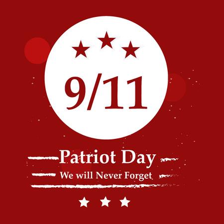 Illustration of USA Patriot Day background Stock fotó - 108715596