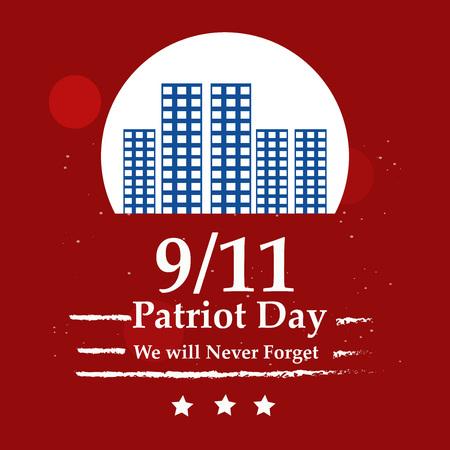 Illustration of USA Patriot Day background Stock fotó - 108715597