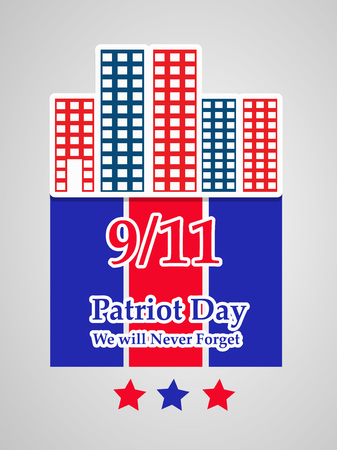 Illustration of USA Patriot Day background Stock fotó - 108715599