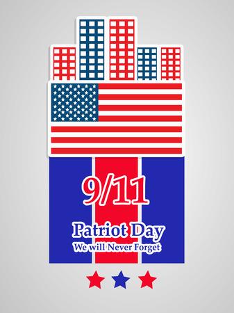 Illustration of USA Patriot Day background Stock fotó - 108715601