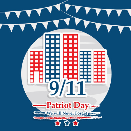 Illustration of USA Patriot Day background Stock fotó - 108715611