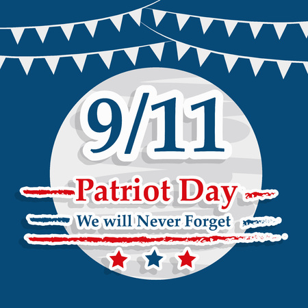 Illustration of USA Patriot Day background Stock fotó - 108715606