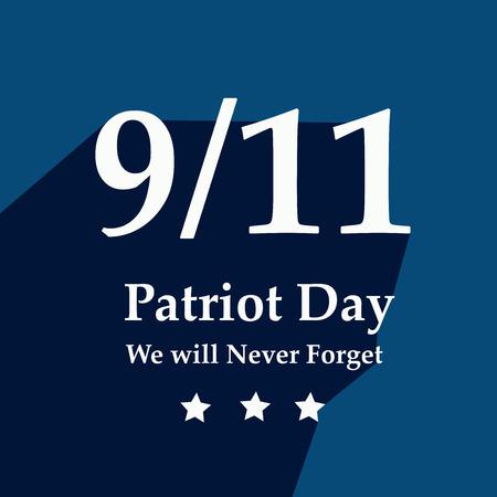 Illustration of USA Patriot Day background Stock fotó - 108715612