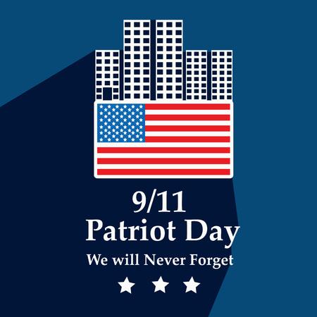 Illustration of USA Patriot Day background Stock fotó - 108715613