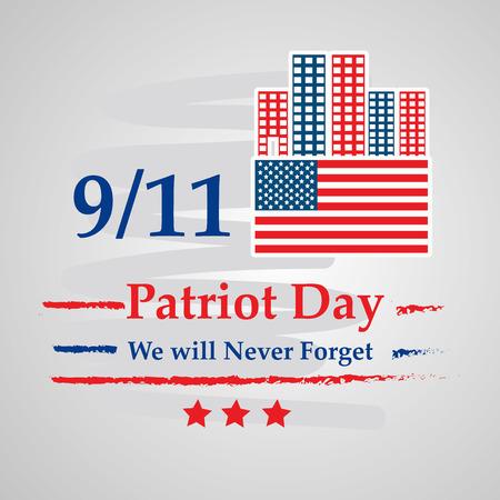 Illustration of USA Patriot Day background Stock fotó - 108715616